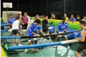team building calcio balilla umano