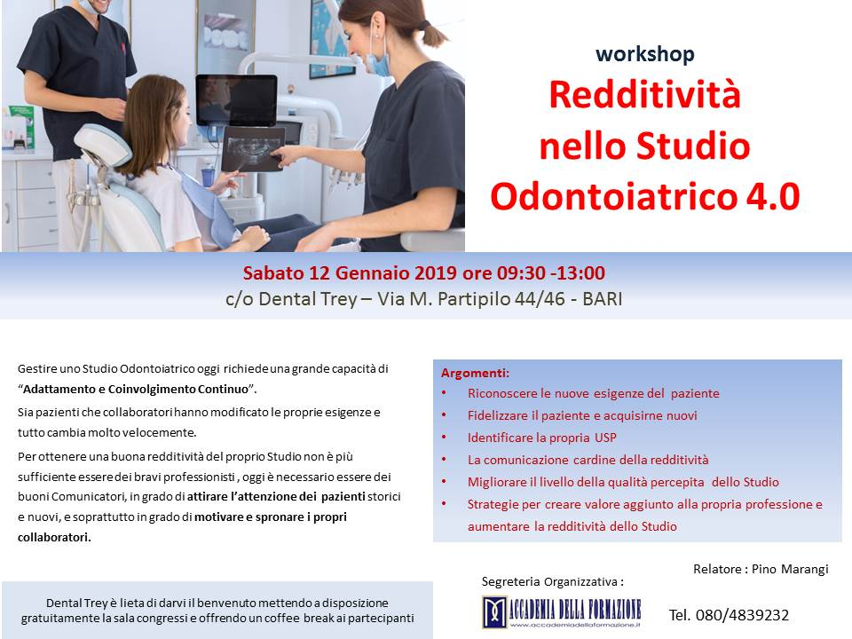 Redditività nello Studio Odontoiatrico 4.0